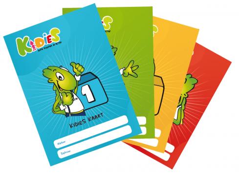 kleuterturnen beloning kaart Kidies kleuters