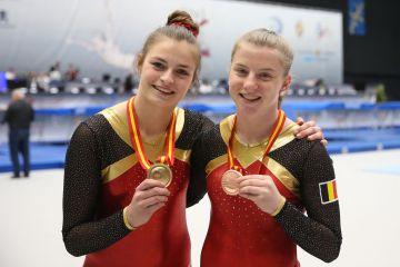 Anne Leemans GOUD en Evi Milh BRONS (foto: Thomas Schreyer)