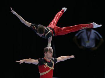 Vincent en Arne gaven ons land 3 gouden medailles op het EK Acro (Foto: Thomas Schreyer)