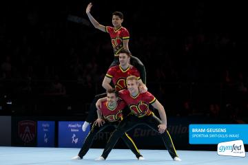 Bram Geusens in actie op het WK in Antwerpen 2018 - Foto Christian Degroote