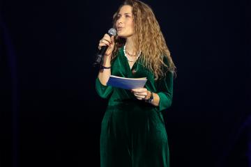 Maureen Vanherberghen tijdens de show in 2019 - Foto Christian Degroote