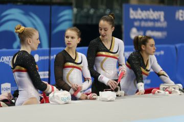 Gaelle, Julie, Nina en Cindy (foto: Thomas Schreyer)